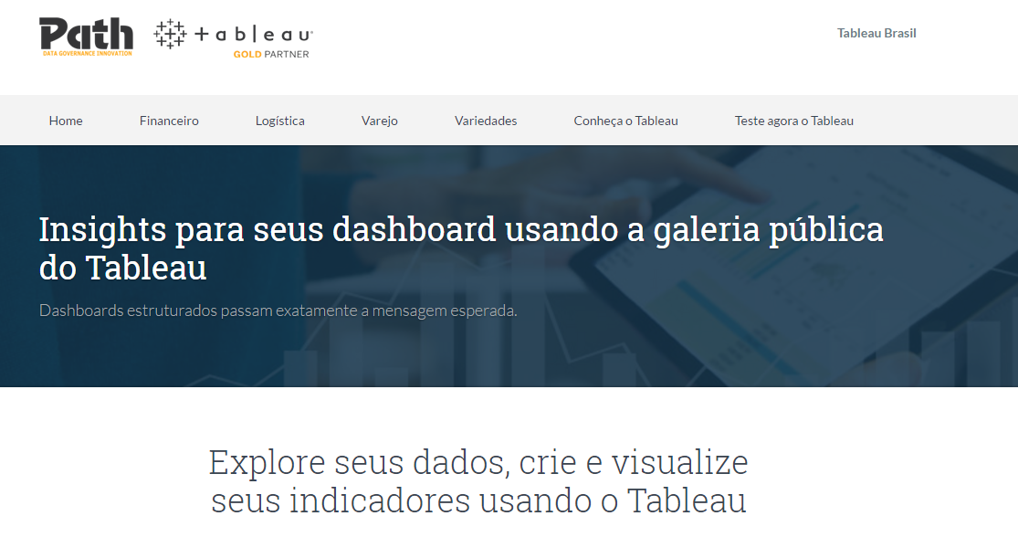 Insights para seus dashboard usando a galeria pública do Tableau