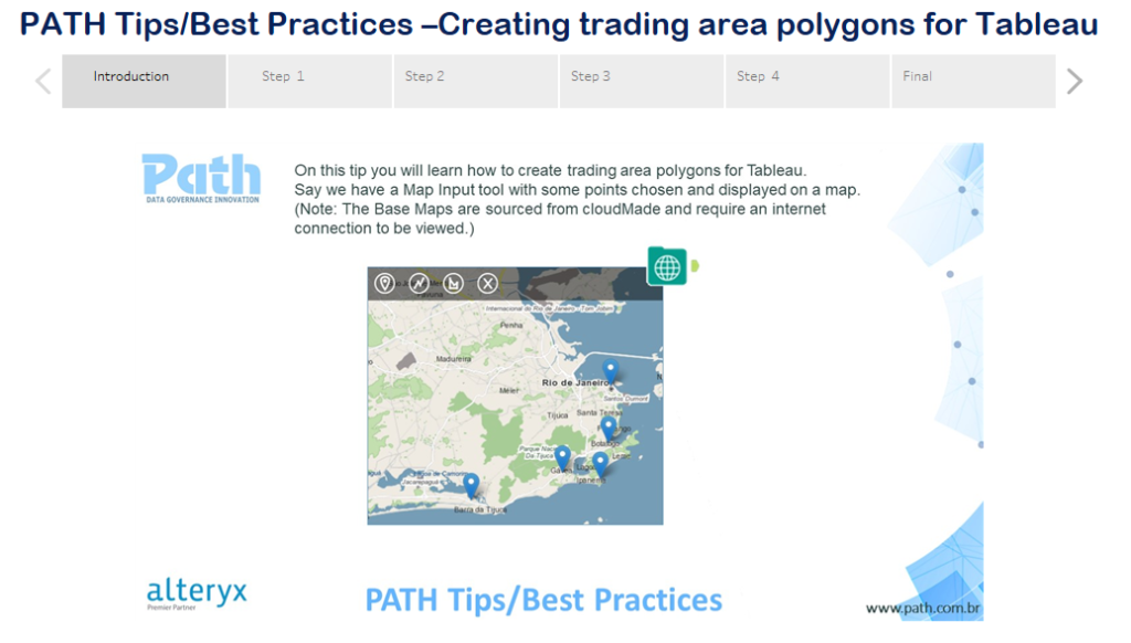 PATH Tips/Best Practices –Creating trading area polygons for Tableau